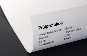 Geprüfte Qualität Pruefprotokoll